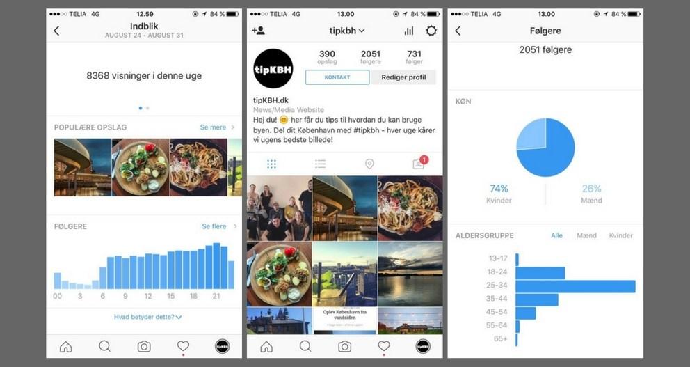 Instagram Virksomhedsprofil