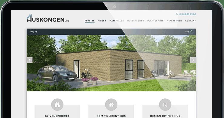 Huskongen hjemmeside