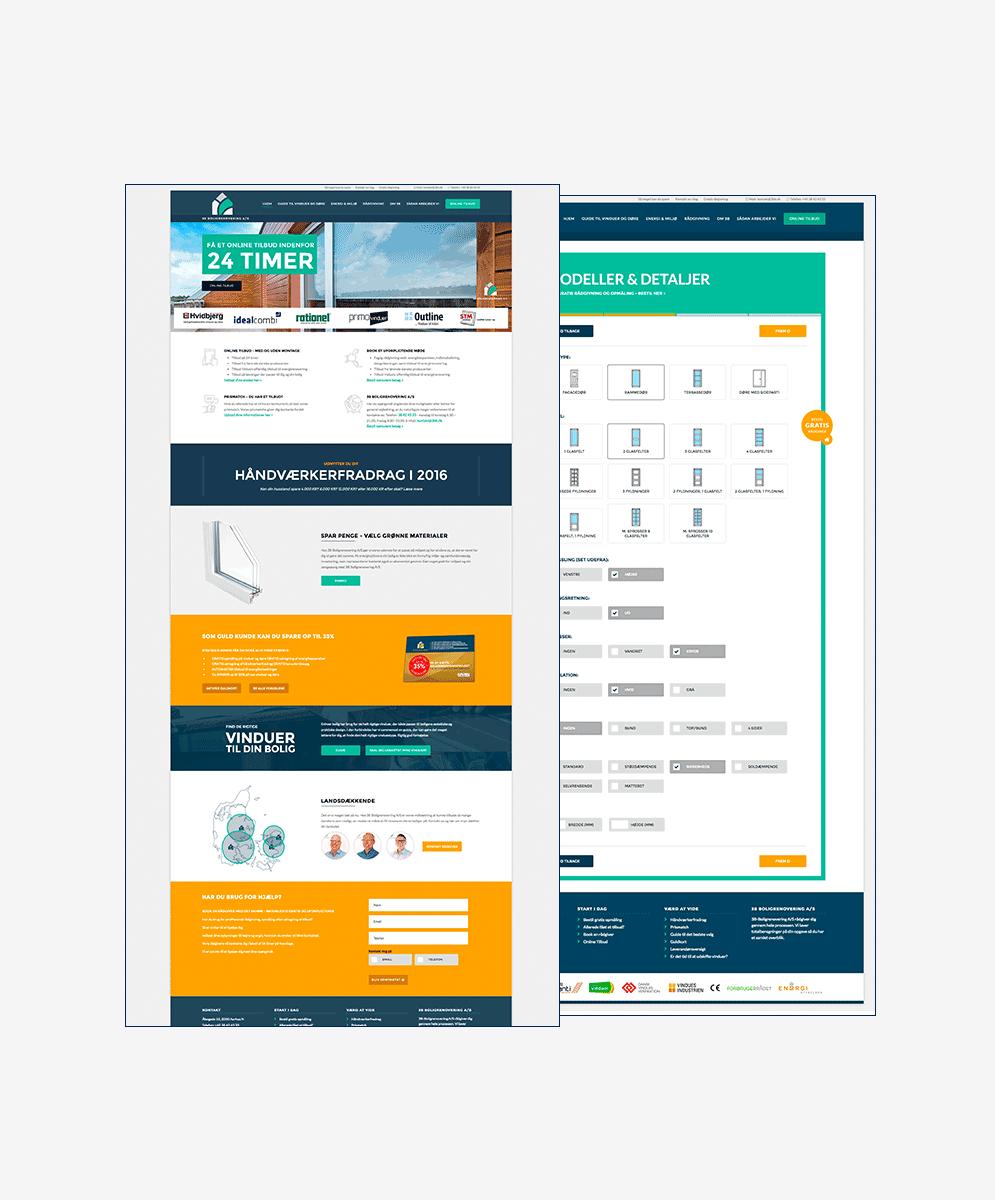 3B Boligrenovering hjemmeside screenshots